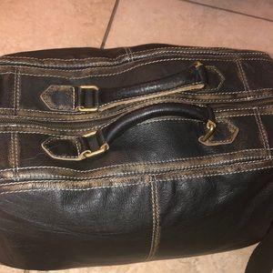 Black Rivet Bags - Black Rivet Distressed Landon Leather Duffle
